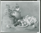 view Still Life with Potted Geranium, [painting] / (photographed by Peter A. Juley & Son) digital asset number 1