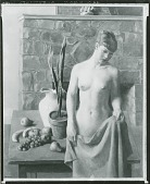view No Title Given: Nude Woman in Front of Table [painting] / (photographed by Peter A. Juley & Son) digital asset number 1