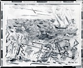 view Movement: Boats and Objects, Blue Grey Sea [painting] / (photographed by Peter A. Juley & Son) digital asset number 1