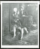 view Two Flappers Walking [painting] / (photographed by Peter A. Juley & Son) digital asset number 1