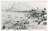 view Horses Swimming Ashore at Landing at Daiquiri [drawing] / (photographed by Peter A. Juley & Son) digital asset number 1