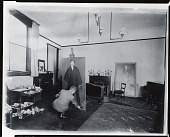 """view William Glackens in his studio at work on """"Portrait of Charles FitzGerald"""" [photograph] / (photographed by Peter A. Juley & Son) digital asset number 1"""