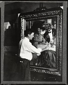 "view William Glackens touching up ""Chez Mouquin"" [photograph] / (photographed by Peter A. Juley & Son) digital asset number 1"