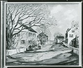 view Old Houses in Spring [painting] / (photographed by Peter A. Juley & Son) digital asset number 1