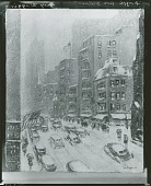 view Fifth Avenue Storm [painting] / (photographed by Peter A. Juley & Son) digital asset number 1