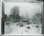view Columbus Circle [painting] / (photographed by Peter A. Juley & Son) digital asset number 1