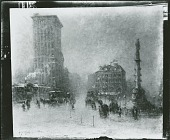 view No Title Given: Columbus Circle? [painting] / (photographed by Peter A. Juley & Son) digital asset number 1