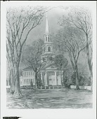 view Church at Old Lyme [painting] / (photographed by Peter A. Juley & Son) digital asset number 1