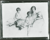 view No Title Given: Family Portrait [drawing] / (photographed by Peter A. Juley & Son) digital asset number 1