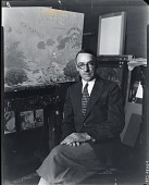 view Harry L. Hoffman in his studio [photograph] / (photographed by Peter A. Juley & Son) digital asset number 1