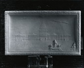 view Model for Woodrow Wilson Declaring His Fourteen Points of Peace to the World from the Narthex of the Capitol at Washington [sculpture] / (photographed by Peter A. Juley & Son) digital asset number 1