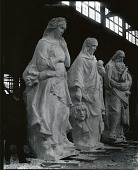 view Poetry, Drama and History (figures for Attic of Main Façade, New York Public Library) [sculpture] / (photographed by Peter A. Juley & Son) digital asset number 1