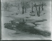 view The Brook in Winter [painting] / (photographed by Peter A. Juley & Son) digital asset number 1