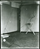 """view Installation of """"Mobiles by Alexander Calder"""" at Pierre Matisse Gallery, New York [photograph] / (photographed by De Witt Ward) digital asset number 1"""