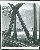 view Iron Bridge and Winter Sun [painting] / (photographed by Peter A. Juley & Son) digital asset number 1