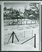 view Wire Fence in Snow [painting] / (photographed by Peter A. Juley & Son) digital asset number 1