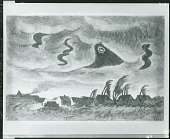 view Windy Winter Night [drawing] / (photographed by Peter A. Juley & Son) digital asset number 1