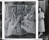 view Elizabeth Tashjian in her studio [photograph] / (photographed by Peter A. Juley & Son) digital asset number 1
