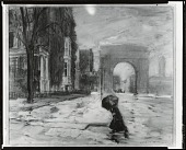 view Washington Arch, After the Rain [drawing] / (photographed by Peter A. Juley & Son) digital asset number 1
