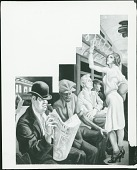 view America Today: City Activities with Subway (detail) [painting] / (photographed by Peter A. Juley & Son) digital asset number 1