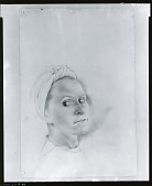 view Study for Portrait of Gala [drawing] / (photographed by Peter A. Juley & Son) digital asset number 1