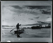view Man Rowing Towards Hunter's Blind [painting] / (photographed by Peter A. Juley & Son) digital asset number 1