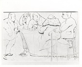 view Bar Scene [drawing] / (photographed by Peter A. Juley & Son) digital asset number 1