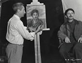 view George Biddle in his studio with sitter John Qualen [photograph] / (photographed by Peter A. Juley & Son) digital asset number 1