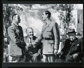 view Henri Giraud and Charles de Gaulle at the Casablanca Conference [painting] / (photographed by Peter A. Juley & Son) digital asset number 1