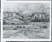 view Western Landscape with Mesa [drawing] / (photographed by Peter A. Juley & Son) digital asset number 1