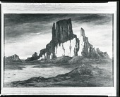 view Church Rock, New Mexico [painting] / (photographed by Peter A. Juley & Son) digital asset number 1