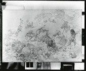 view Sketch of Wolves Attacking Sheep [drawing] / (photographed by Peter A. Juley & Son) digital asset number 1