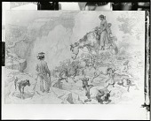 view Sketch for Homeward Bound [drawing] / (photographed by Peter A. Juley & Son) digital asset number 1