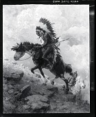 view Mounted Indian [painting] / (photographed by Peter A. Juley & Son) digital asset number 1