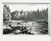view Trout Fishing, Au Sable [painting] / (photographed by Peter A. Juley & Son) digital asset number 1