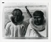 view Two Kotzebue Eskimos [painting] / (photographed by Peter A. Juley & Son) digital asset number 1