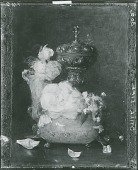 view Roses in Two Small Venetian Vases with Silver Chalice [painting] / (photographed by Peter A. Juley & Son) digital asset number 1