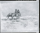 view Here's Hoping Your Trail is a Long One, Plain and Easy to Ride [painting] / (photographed by Peter A. Juley & Son) digital asset number 1