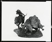 view Buffalo Hunt [sculpture] / (photographed by Peter A. Juley & Son) digital asset number 1