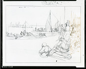 view Study for the Army crossing the Loire at Crécy [drawing] / (photographed by Peter A. Juley & Son) digital asset number 1