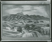 view Road into Ranchos de Taos [painting] / (photographed by Peter A. Juley & Son) digital asset number 1