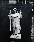 view Figure Holding a Sword [sculpture] / (photographed by Peter A. Juley & Son) digital asset number 1