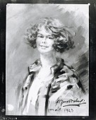 view Portrait of a Woman, possibly Gertrude Vanderbilt Whitney [painting] / (photographed by Peter A. Juley & Son) digital asset number 1