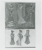 view Six Sketches of Ladies [graphic arts] / (photographed by Peter A. Juley & Son) digital asset number 1