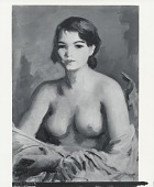 view Doris Trautman (Nude with Yellow Shawl) [painting] / (photographed by Peter A. Juley & Son) digital asset number 1