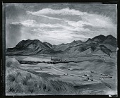 view First Range of the Rockies [painting] / (photographed by Peter A. Juley & Son) digital asset number 1