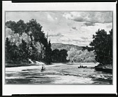 view Fork's Pool, Tobique [painting] / (photographed by Peter A. Juley & Son) digital asset number 1