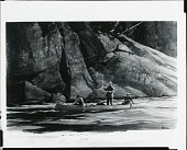 view Along the Granite Cliff, Moisie River, Quebec [painting] / (photographed by Peter A. Juley & Son) digital asset number 1