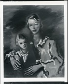 view Mrs. Whipple Jones and Daughter [painting] / (photographed by Peter A. Juley & Son) digital asset number 1