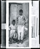 view Mexican Man with Son [painting] / (photographed by Peter A. Juley & Son) digital asset number 1